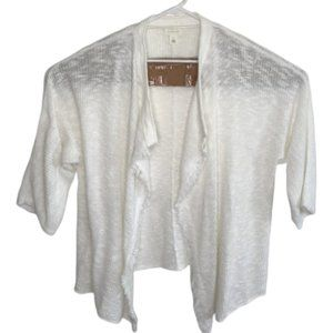 Caslon Open Front Cropped Short Sleeve Cardigan